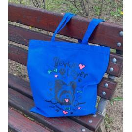 Kék Yorkie Lover táska