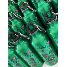 Zöld Yorkie Lover kulacs