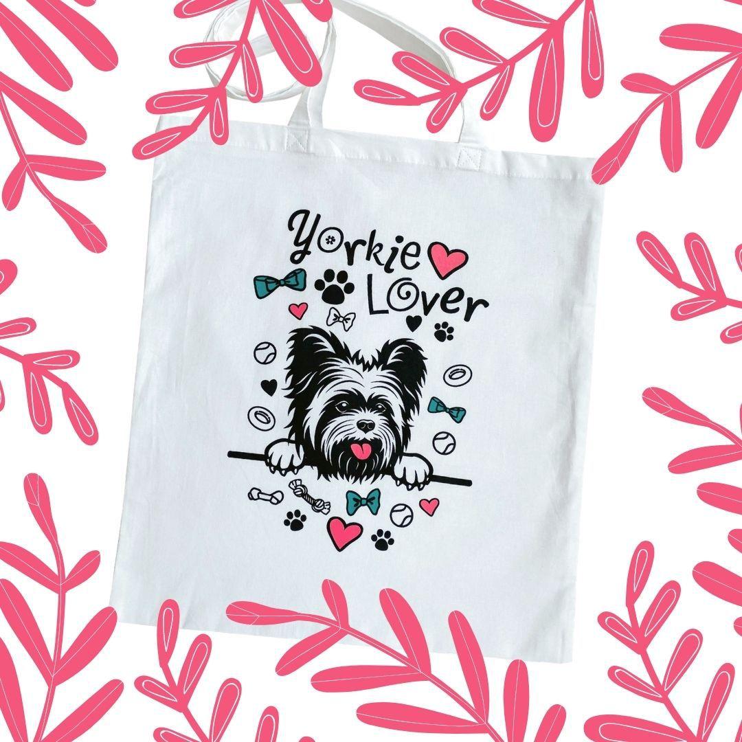 Fehér Yorkie Lover táska