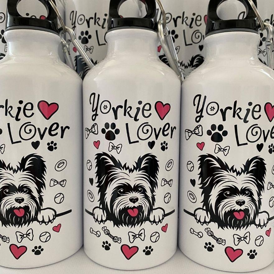 Fehér Yorkie Lover kulacs